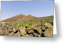 Corona Volcano On Lanzarote Greeting Card