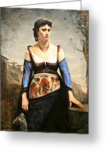 Corot's Agostino Greeting Card