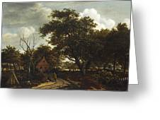 Cottages In A Wood Greeting Card