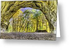 Council Overhang At Starved Rock Greeting Card