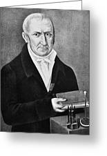 Count Alessandro Volta (1745-1827) Greeting Card