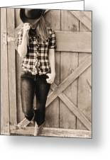 Country Girl Greeting Card