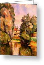 Country House By A River Greeting Card