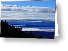 Courthouse Valley Sea Of Clouds Greeting Card