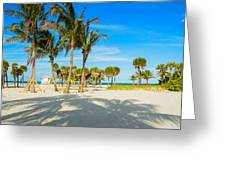 Crandon Park Beach Greeting Card