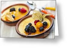 Creme Brulee Dessert Greeting Card