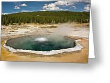 Crested Pool, Upper Geyser Basin Greeting Card