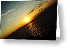 Crooked Sunrise Greeting Card