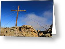 Cross At Capu Di A Veta Near Calvi Greeting Card