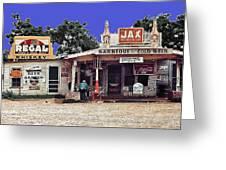 Crossroads Store Bar Juke Joint And Gas Station Fsa Marion Post Wolcott Melrose Louisiana Greeting Card