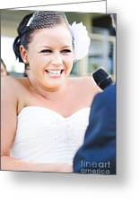 Crying And Laughing Bride Greeting Card