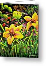 Cups Of Gold Greeting Card