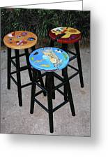 Custom Barstools Greeting Card