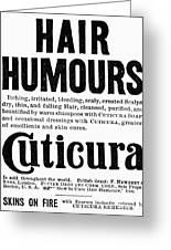 Cuticura Ad, 1898 Greeting Card