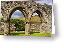 Cymer Abbey Snowdonia Greeting Card
