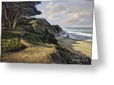 Cypress Path Impasto Greeting Card