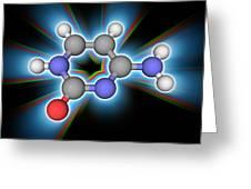 Cytosine Organic Compound Molecule Greeting Card