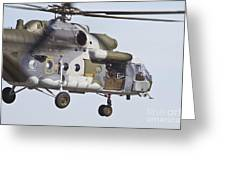 Czech Air Force Mi-171 Hip Helicopter Greeting Card