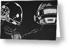 Daft Punk Greeting Card by Trevor Garner