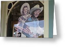 Dale Evans Roy Rogers Cardboard Cut-outs Flag Reflection Helldorado Days Tombstone 2004 Greeting Card