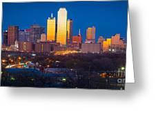 Dallas Skyline Greeting Card