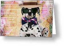 Dalmatian Bowtie Collection Greeting Card