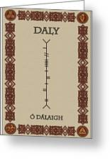 Daly Written In Ogham Greeting Card