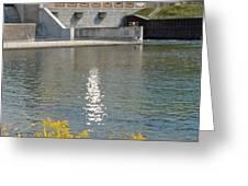 Dam Reflection Greeting Card