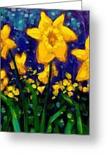 Dancing Daffodils Cropped  Greeting Card