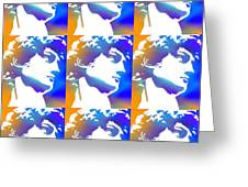 David Repeat Treatment One Color Greeting Card