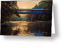 Dawn At Swann Bridge Greeting Card