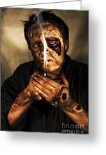 Dead Man Smoking Greeting Card