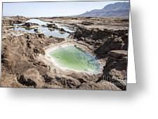 Dead Sea Sinkholes  Greeting Card by Eyal Bartov