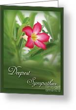 Deepest Sympathies Greeting Card Greeting Card