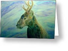 Deer At Home Greeting Card