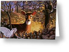 Deer In The Forest Greeting Card