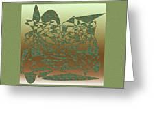Delicate Green Stroke Greeting Card
