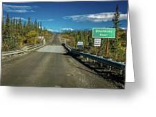 Denali Highway, Route 8, Bridge Crosses Greeting Card