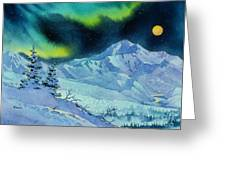 Denali Night Greeting Card