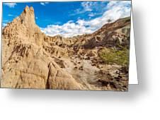 Desert And Blue Sky Greeting Card