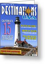 Destinations Usa Faux Magazine Cover Greeting Card