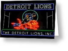Detroit Lions Football Greeting Card