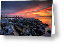 Dewey Beach Sunset Greeting Card