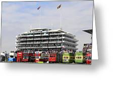 Diamond Jubilee Weekend At The Derby Horse Race On Epsom Downs  Greeting Card