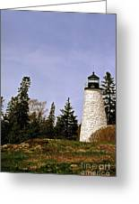 Dice Head Lighthouse Greeting Card