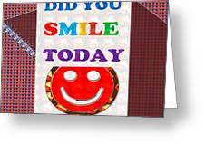 Did You Smile Today Background Designs  And Color Tones N Color Shades Available For Download Rights Greeting Card