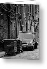 Dirty Back Streets Mono Greeting Card