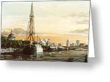 Discovery On The Banks Of The River Thames London Greeting Card