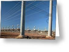 Disused Solar Power Plant Greeting Card