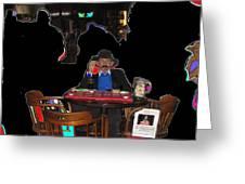 Doc Holliday Teaching Faro Crystal Palace Saloon Tombstone Arizona 2004  Greeting Card